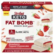 Slim Fast Keto Meal Replacement Bars Strawberry Cheesecake