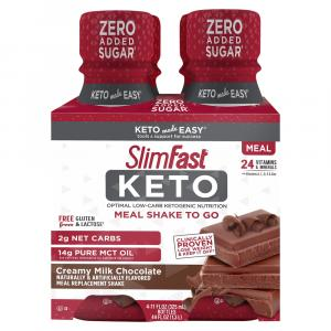 SlimFast Keto Meal Shake to Go Creamy Milk Chocolate