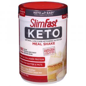 Slim Fast Keto Meal Replacement Powder Vanilla Cake Batter