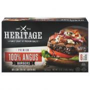 Heritage Premium 100% Angus Burgers