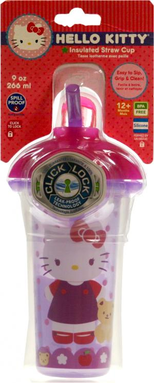Hello Kitty Insulated Straw Cup 9 Oz.