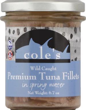 Cole's Premium Tuna Fillets in Spring Water