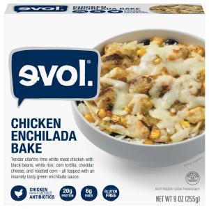Evol Gluten Free Chicken Enchilada Bake