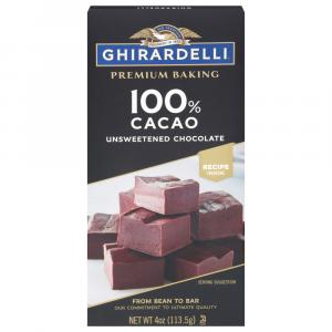 Ghirardelli Unsweetened Chocolate Premium Baking Bar