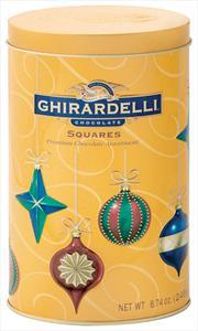 Ghirardelli Holiday Oval Ornament Tin