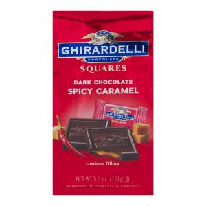 Ghirardelli Dark Chocolate Spicy Caramel Squares