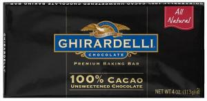 Ghirardelli 100% Cacao Unsweetened Baking Bar