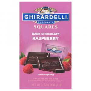 Ghirardelli Dark Chocolate Squares with Raspberry
