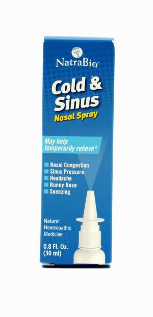 NatraBio Cold & Sinus Nasal Spray
