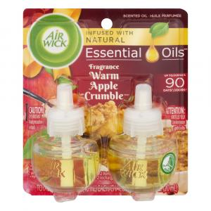 Air Wick Scented Oil Warm Apple Crumble Twin Refill