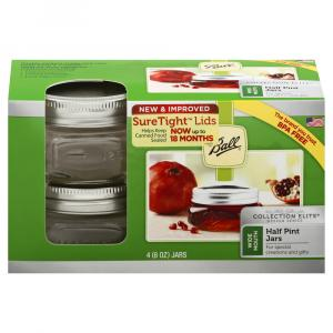 Ball Elite 1/2 Pint Wide Mouth Jars
