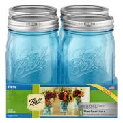 Ball Collection Elite Blue Wide Mouth Quart Jars