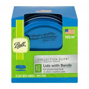Ball Blue Wide Mouth Lids & Bands Canning Jar