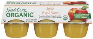 Santa Cruz Organic Apple Peach Sauce
