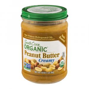 Santa Cruz Organic Dark Roasted Creamy Peanut Butter
