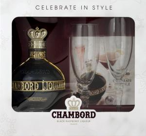 Chambord with Flutes Gift Pack