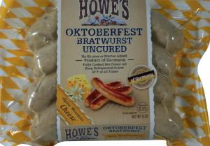 Howe's Oktoberfest Cheese Bratwurst Uncured