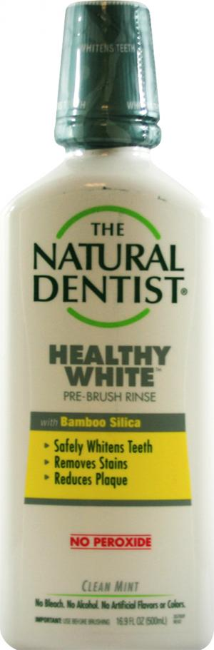 The Natural Dentist Healthy White Pre-Brush Rinse Clean Mint