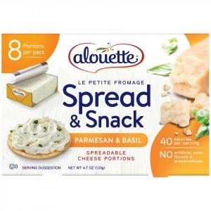Alouette Le Petite Fromage Parmesan And Basil Cheese