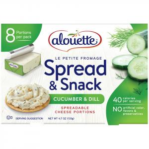 Alouette Le Petite Fromage Cucumber And Dill Cheese