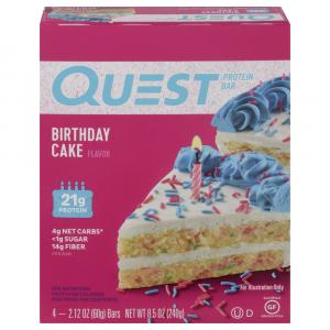 Quest Protein Bar Birthday Cake
