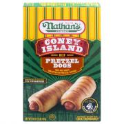 Nathan's Famous Coney Island Beef Pretzel Dogs