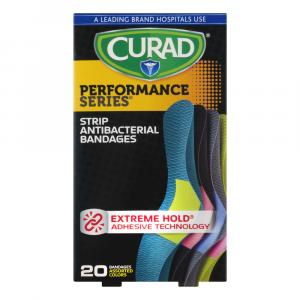 CURAD Performance Antibacterial Bandages Assorted Colors