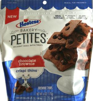 Hostess Bakery Petites Chocolate Brownie Crispi Thins