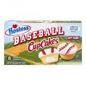 Hostess Baseball Yellow Cupcakes with Creamy Filling