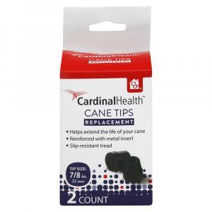 "Cardinal Health Black Cane Tip 7/8"""