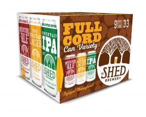 The Shed Brewery Full Cord Can Variety Pack