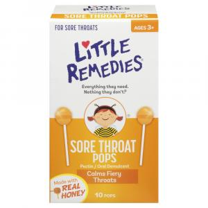 Little Remedies Real Honey Sore Throat Pops