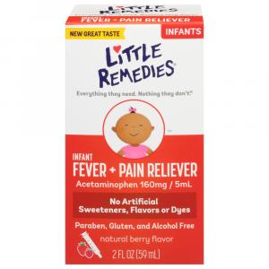 Little Fevers Infant Fever/pain Reliever Natural Berry