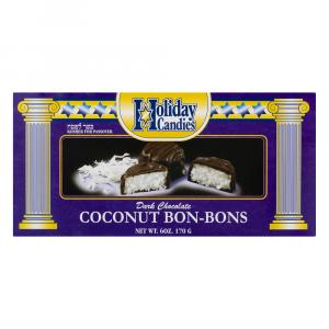 Holiday Candies Dark Chocolate Coconut Bon-Bons