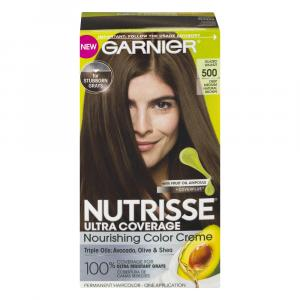 Garnier Nutrisse Ultra Coverage #500 Glazed Walnut Color