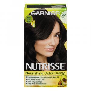 Garnier Nutrisse Creme #20 Soft Black Hair Color Kit
