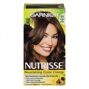 Garnier Nutrisse Cream #51 Medium Ash Brown Hair Color Kit