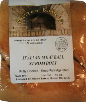 Boston Bakery Italian Meatball Stromboli