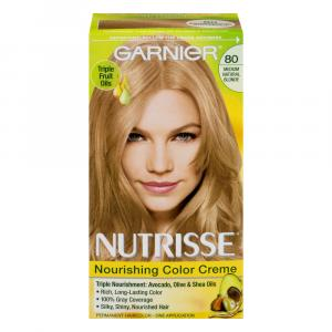 Garnier Nutrisse Creme #80 Medium Natural Blonde Hair Color