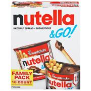 Nutella & Go with Breadsticks