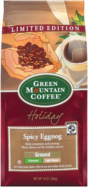 Green Mountain Spicy Egg Nog Ground Coffee