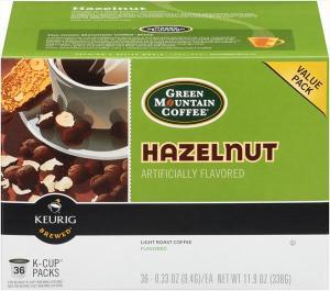 Green Mountain Coffee Hazelnut K-cup