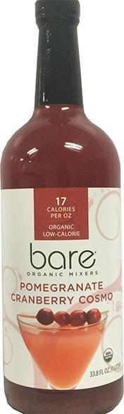 Bare Organic Mixers Pomegranate Cranberry Cosmo