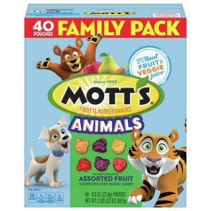 Mott's Assorted Fruit Snacks Animals Family Size