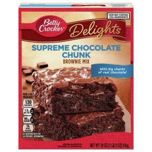 Betty Crocker Chocolate Chunks Supreme Brownie Mix