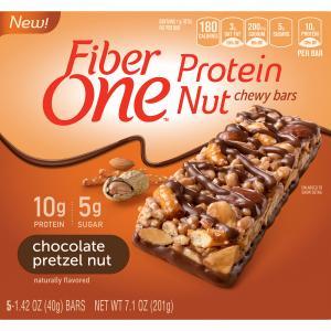 Fiber One Chocolate Pretzel Nut Bars