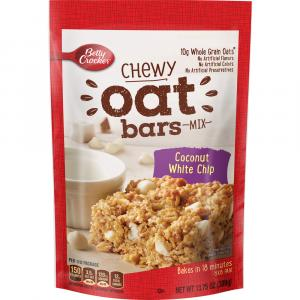 Betty Crocker Chewy Oat Bars Mix - Coconut White Chip