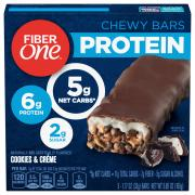 Fiber One Cookies & Cream Protein Chewy Bars