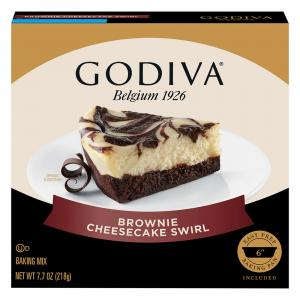 Godiva Brownie Cheesecake Swirl Baking Mix