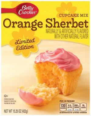Betty Crocker Orange Sherbet Cupcake Mix